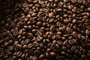 From above coffee beans textured bac