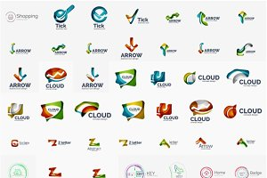 Abstract company logos collection