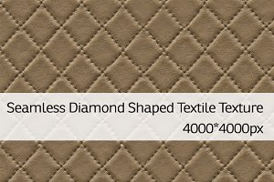 Seamless Diamond Shaped Textile Text