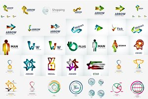 Modern company logos collection