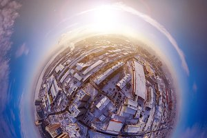 Aerial photography of a modern city