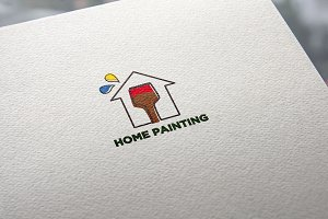 Home Painting Logo Template