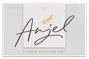 Anjel // Classy Signature Font