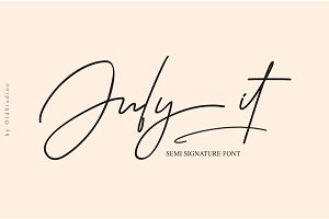 July it // Semi Signature Font