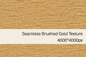 Seamless Brushed Gold Texture