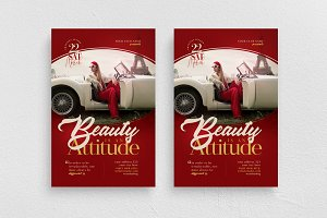 Beauty Is An Attitude Flyer Template