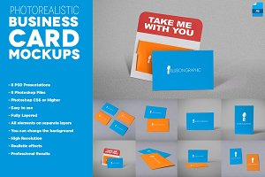 Photorealistic Business Cards Mockup