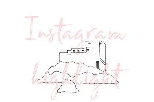Dubrovnik Croatia Icon for Instagram