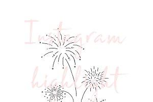 Fireworks Celebration Instagram Icon