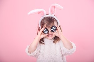 Portrait of a little girl with Bunny