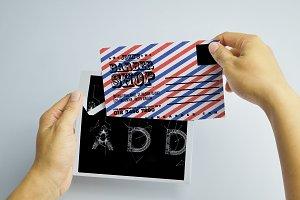Barber Shop Promotion PostCard