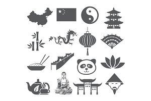 China icons set