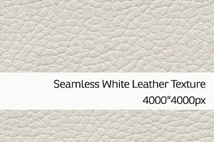 Seamless White Leather Texture