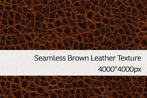 Seamless Brown Leather Texture 2
