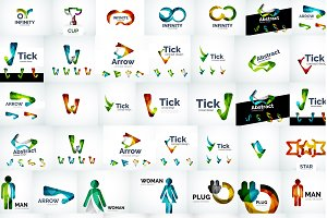 Trendy corporate logotypes set
