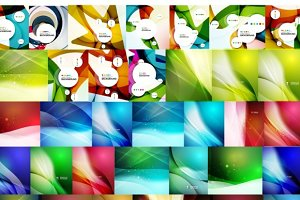 Big set of geometric backgrounds