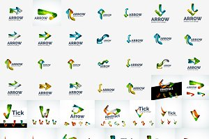 Nice trendy logos collection