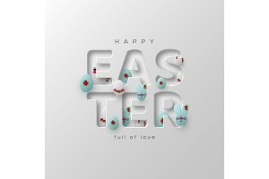 Greeting card for Easter holidays.