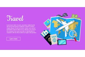 Travel Conceptual Flat Style Vector