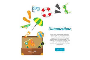 Summertime Conceptual Flat Style