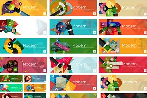 36 trendy infographic banners