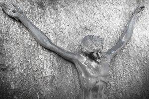 Bronze sculpture of Jesus Christ