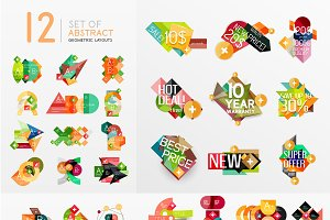 49 geometric infographic layouts