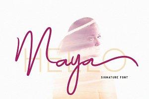 Maya - Luxury Signature Font