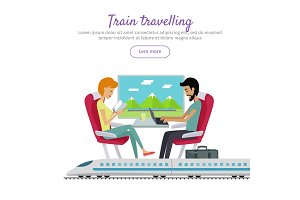 Train Traveling Banner