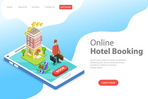 Landing page of online hotel booking