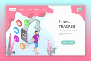 Landing page of fitness tracker