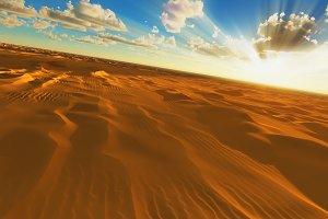 Tilted desert horizon 3d rendering w