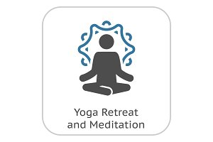 Yoga Retreat and Meditation Icon