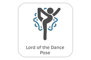 Yoga Lord of the Dance Pose Icon