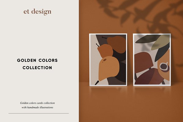 Card Templates: et design - Golden Colors Cards Collection