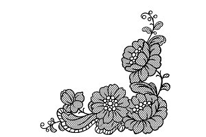 Lace ornamental decoration with