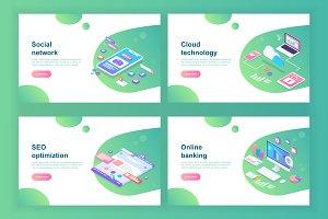 Set of Web technology templates