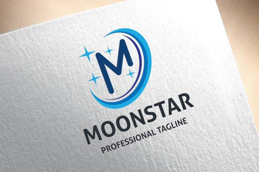 Letter M - Moon Star Logo