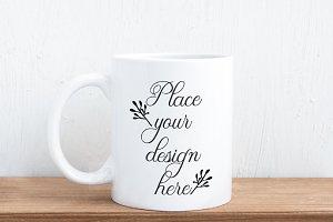 Sublimation white coffee mug mockup