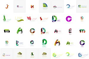 Large set of corporate logotypes