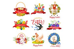 Happy Easter Holiday icons