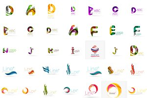 Awesome business logotypes set