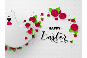 Happy Easter holiday design.
