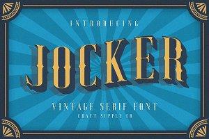 Jocker - Vintage Serif Font Family