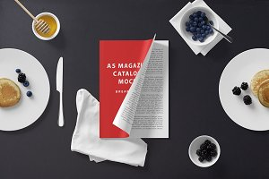 A5 Magazine Mockup - Breakfast Set