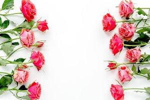 Frame made of red roses