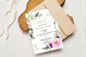 lavender Pink and Gold Bridal Shower