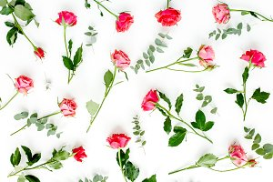 Pattern made of red roses