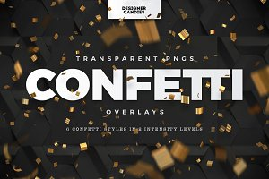PNG Confetti Overlays