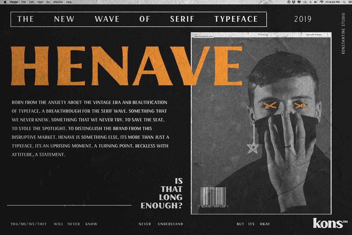 HENAVE - Strong Display Serif